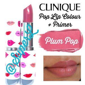 Clinique Makeup - 2/$20 Clinique Pop Lip Colour Primer Lipstick Plum